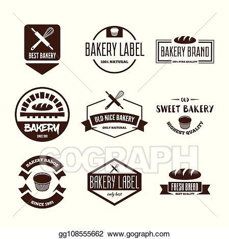 Eps vector set of. Bread clipart logo