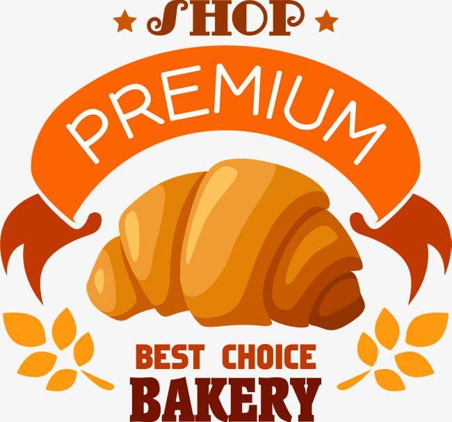 Bread clipart logo. Yellow cartoon png bakery