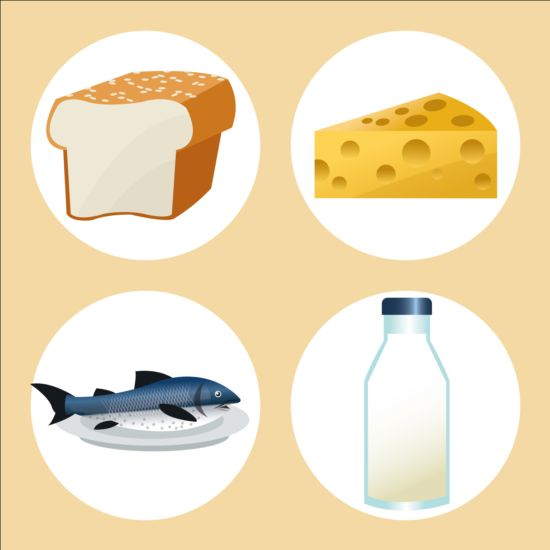 Cheese clipart milk cheese. With bread and fish