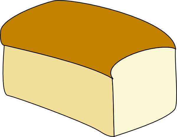 Clipart bread braed. Loaf of outline clip