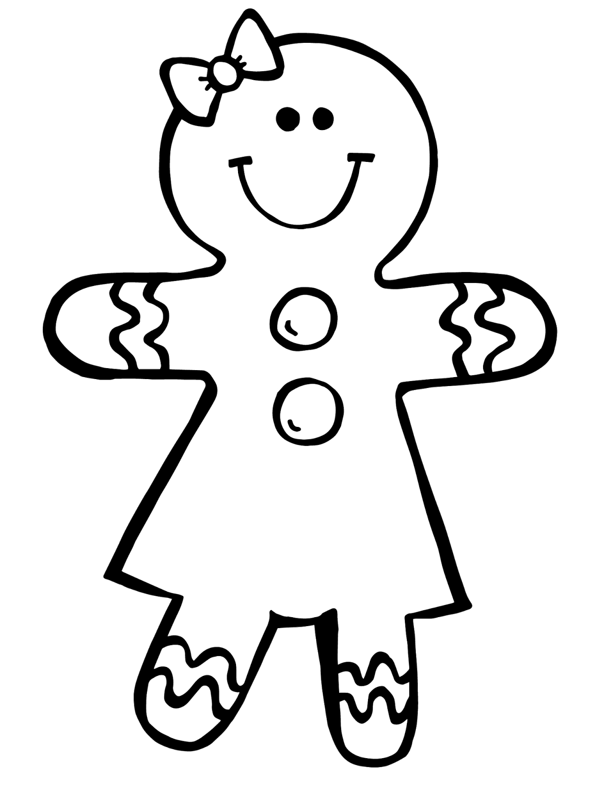 Ginger bread picture free. Draw clipart drawing