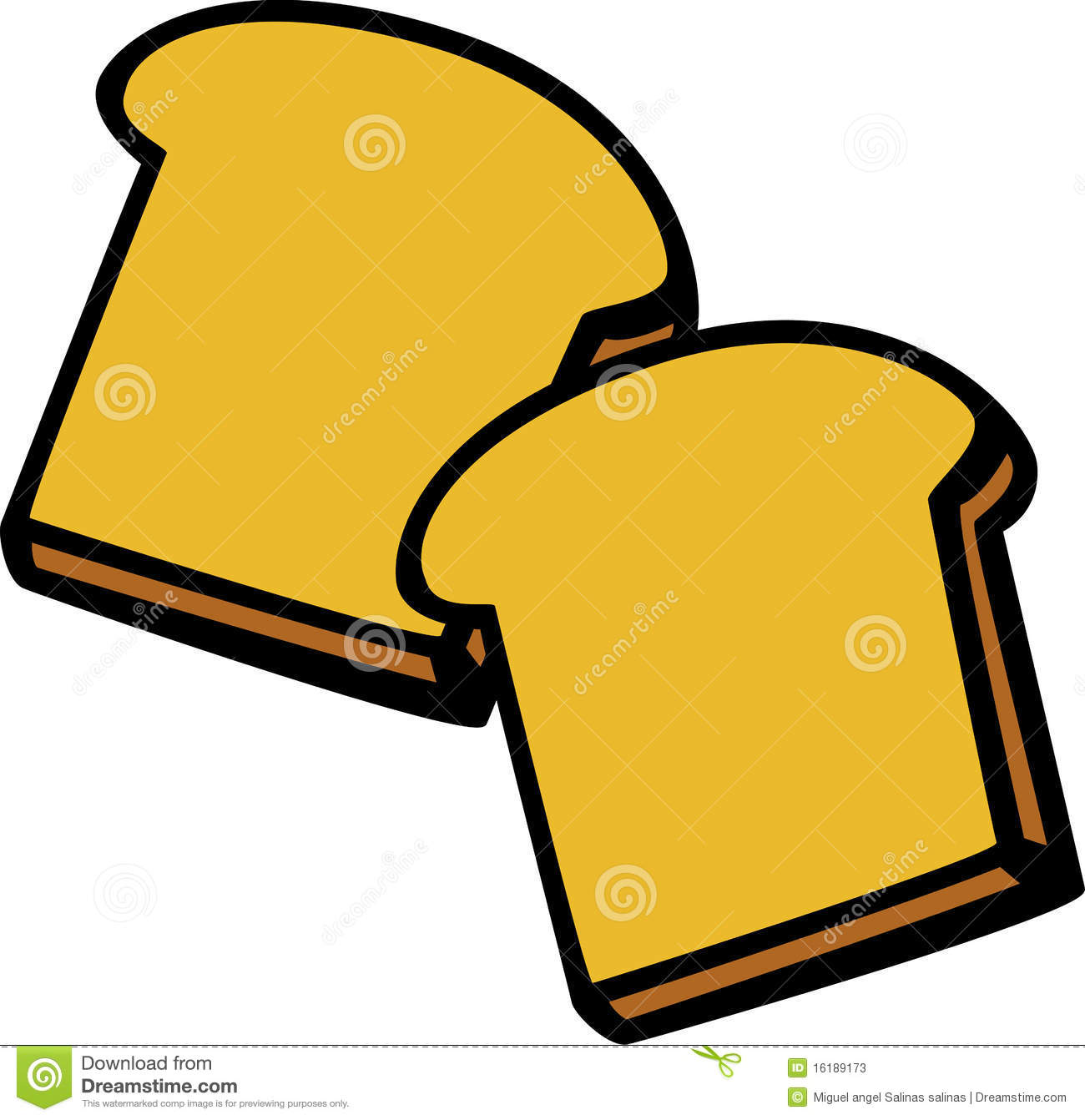 Bread clipart package. Toasted