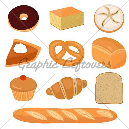 And clip art gl. Bread clipart pastry