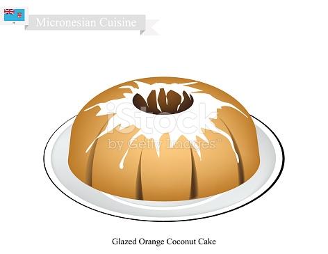Coconut clipground glazed orange. Bread clipart pastry