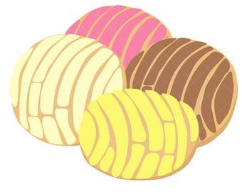 Bread clipart pastry.  collection of concha