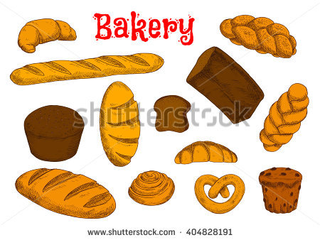 Bread clipart pastry. French