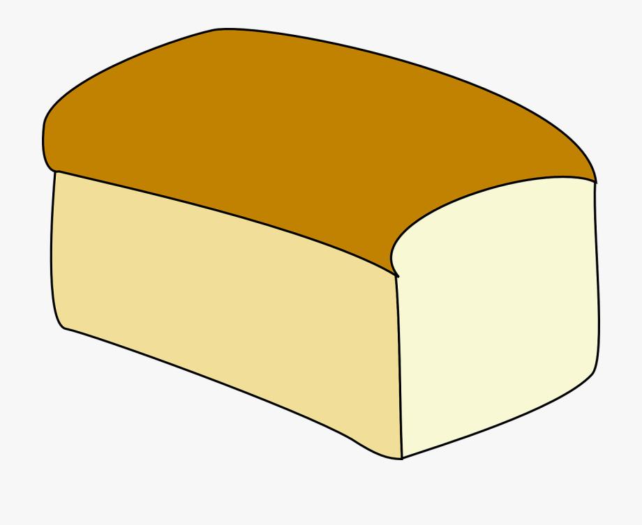 Loaf white sandwich food. Bread clipart sandwhich