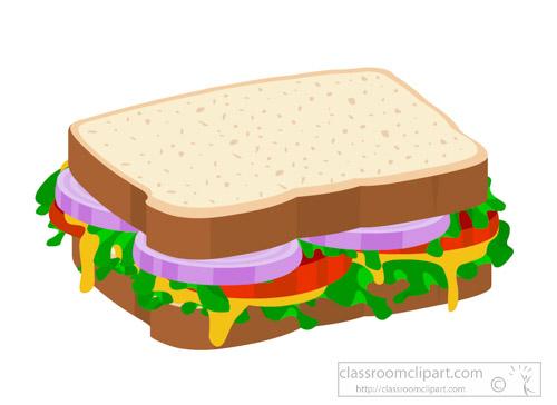 Clipart food sandwich. Vegetable on sliced bread