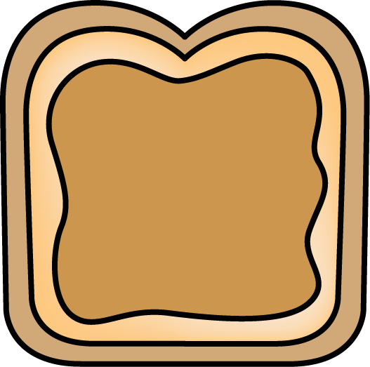 Peanut butter and jelly. Bread clipart sandwich bread
