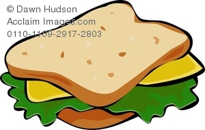 Bread clipart sandwich bread. A cheese and lettuce