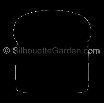 bread clipart silhouette