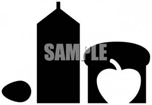 Of an egg apple. Bread clipart silhouette