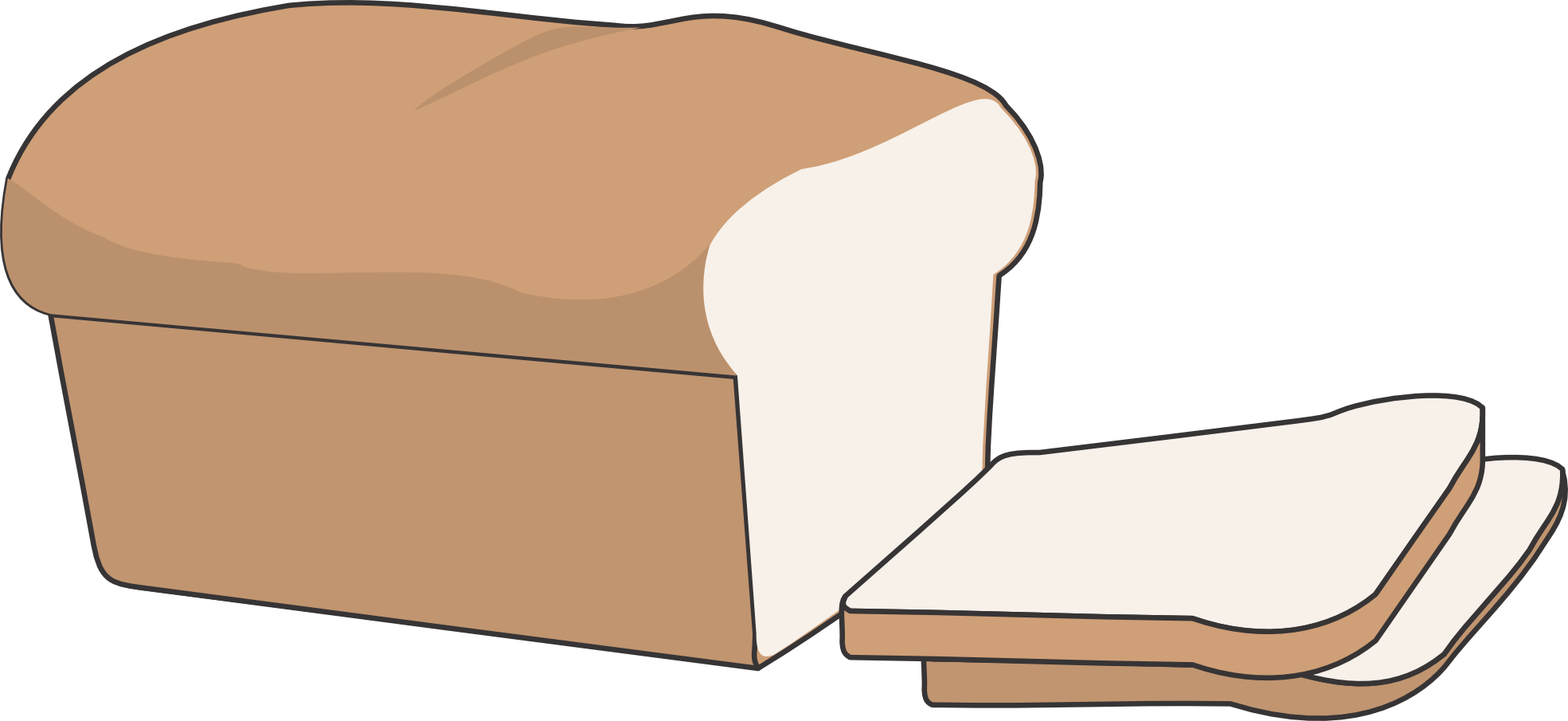 White clipart bread.  collection of transparent