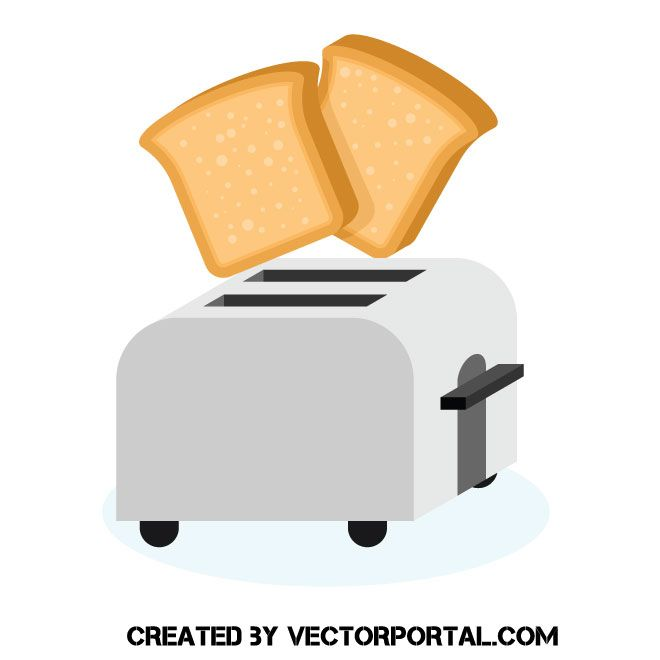 And a toaster clip. Clipart bread vector
