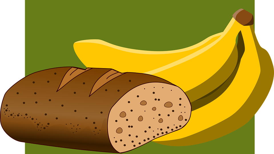 Bread clipart vector. Banana collection free graphics