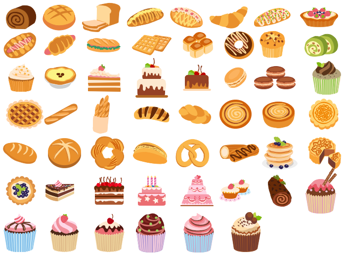Best vector free download. Baking clipart bread