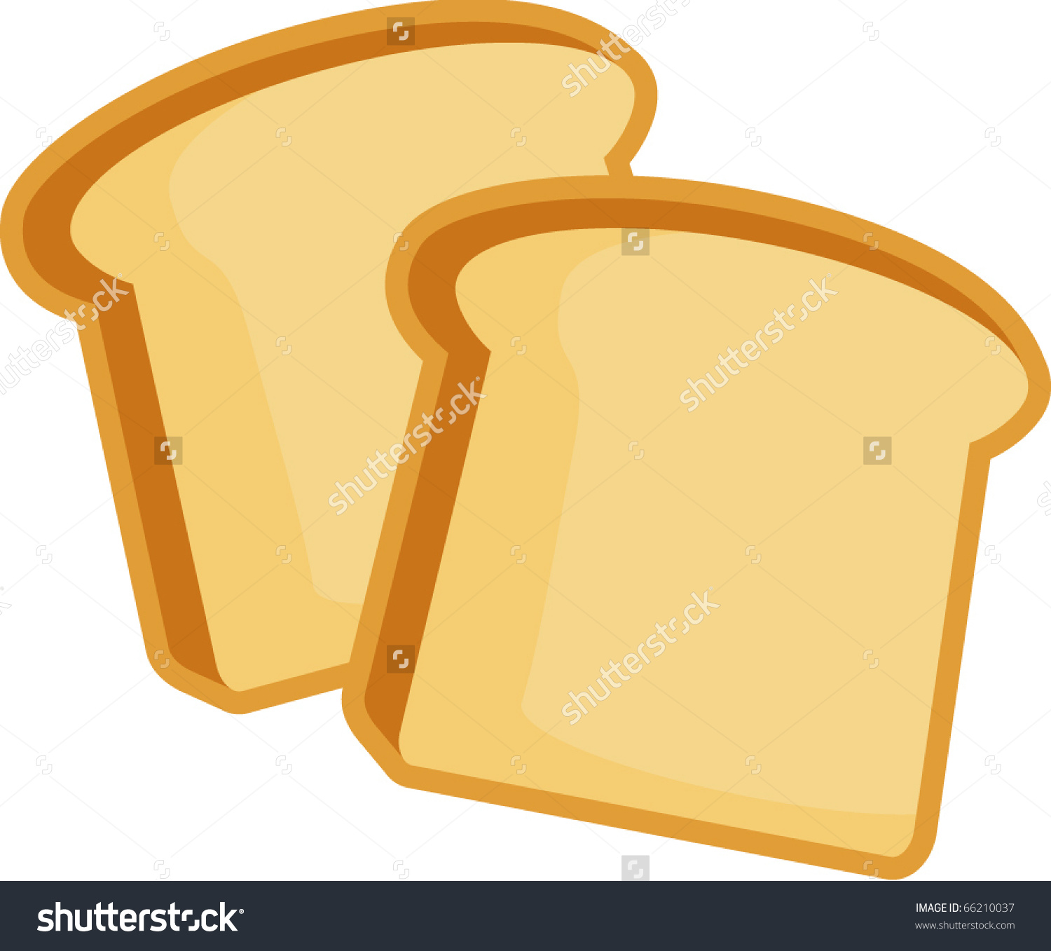 Group toasted clipground. Bread clipart vector