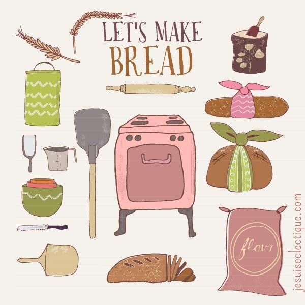 Bread clipart vintage.  best clip art