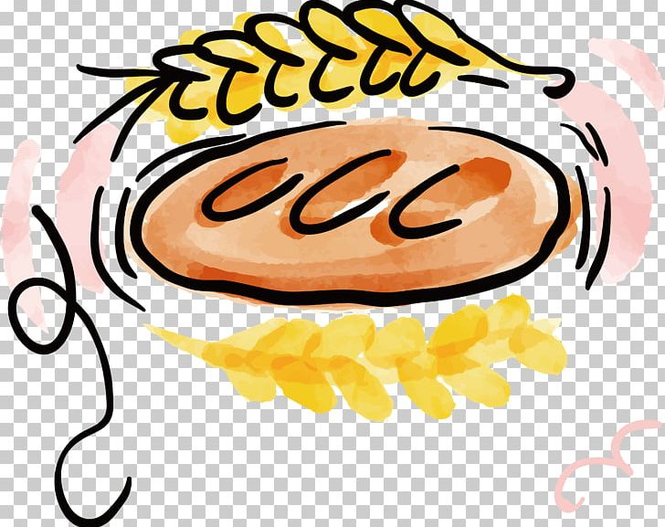 Bread clipart watercolor. Croissant painting baking png