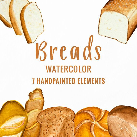 Pin by embers on. Bread clipart watercolor