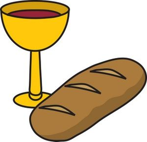 Image and sunday school. Clipart bread wine
