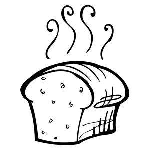 Clipart bread homemade bread.  grain salt free