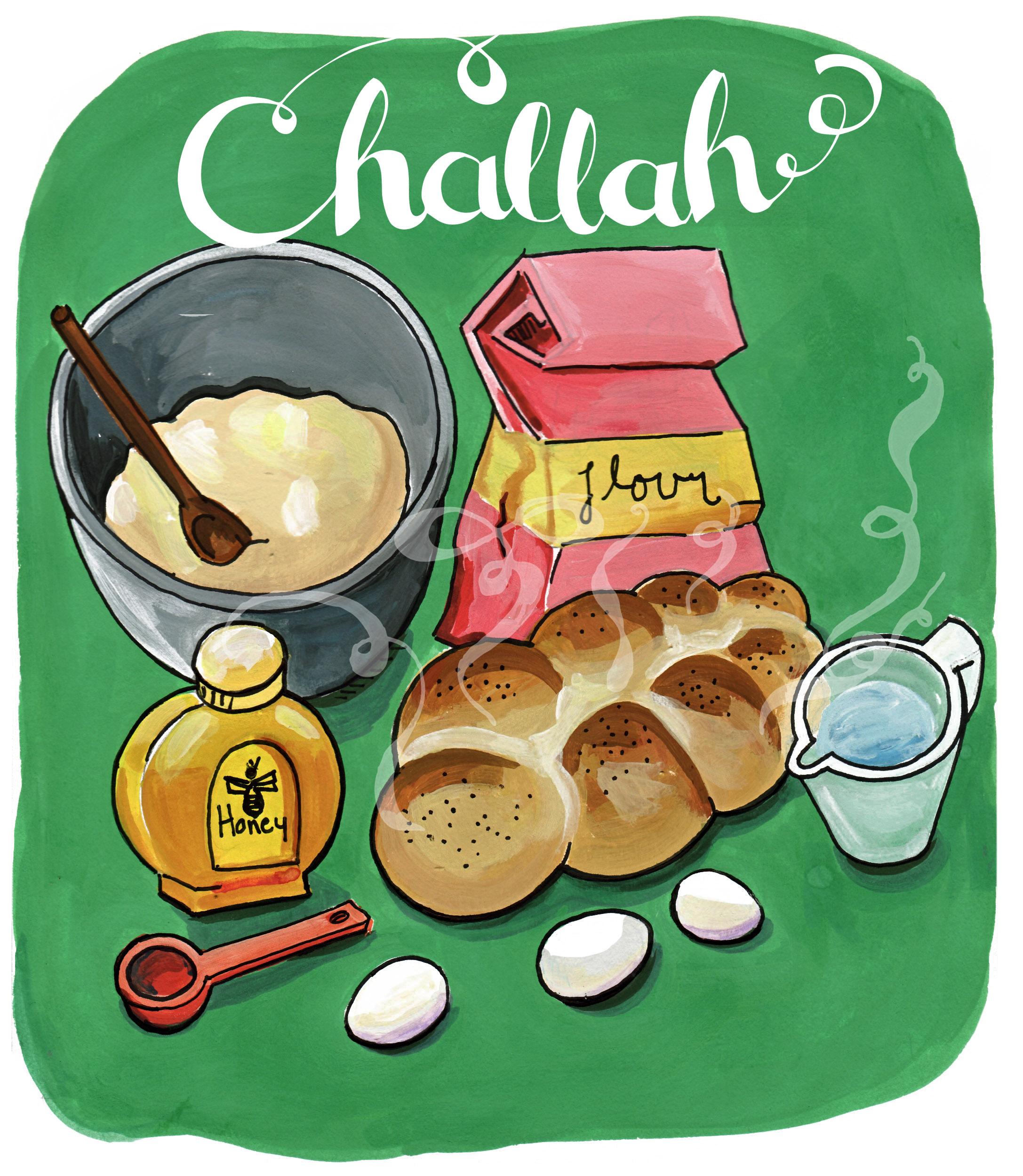 Bread clipart yeast bread. Shabbat illustrated bites challah