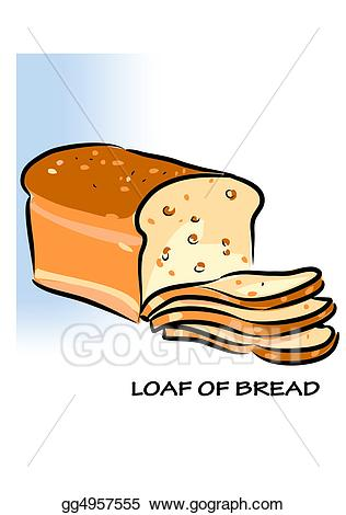 Stock illustration loaf of. Bread clipart yeast bread