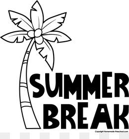 Free download summer vacation. Break clipart black and white