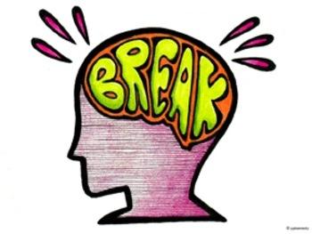 For kids letters breaks. Break clipart brain break