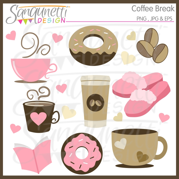 Break clipart coffee break. Sanqunetti design