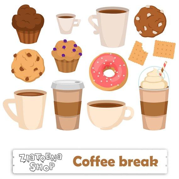 Digital clip art png. Break clipart coffee break