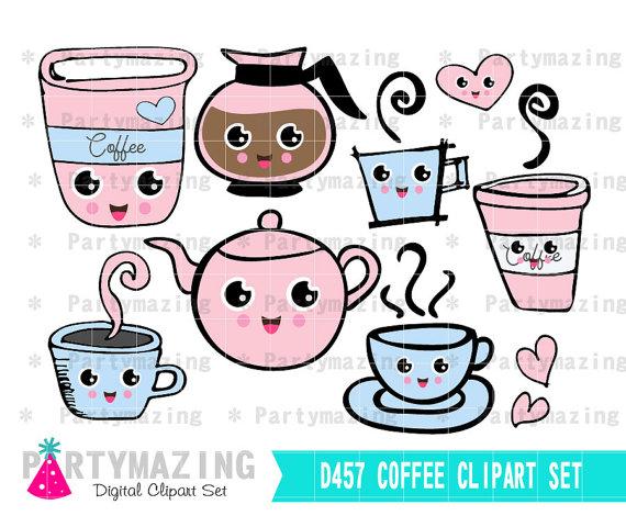 Planner clip art set. Break clipart coffee break