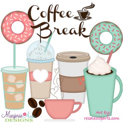 Exclusive svg cutting files. Break clipart coffee break