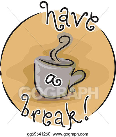 Clip art vector stock. Break clipart coffee break