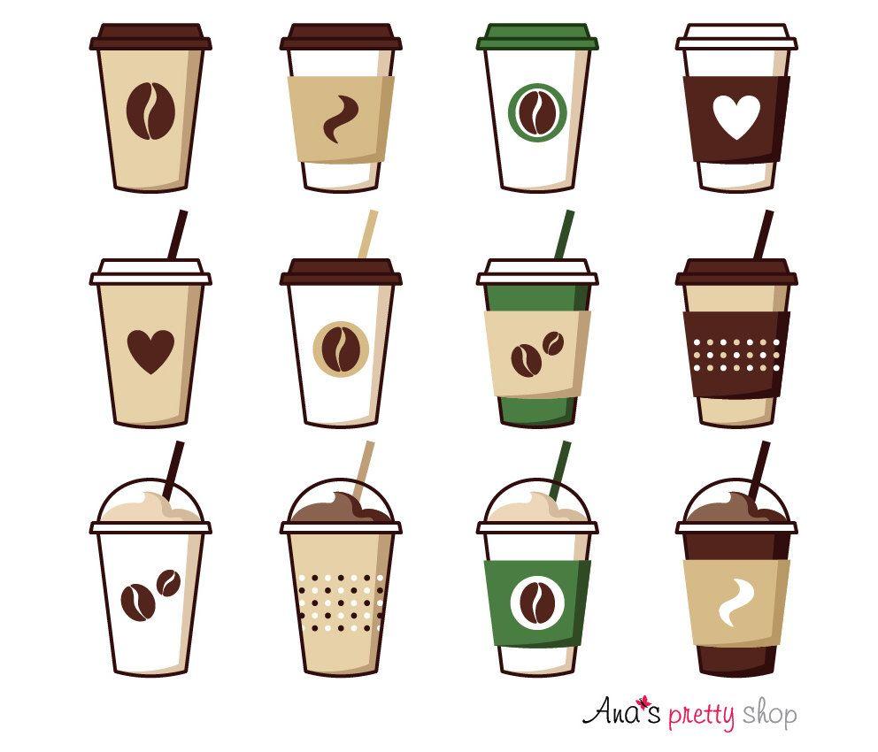 Cup vector illustrations pot. Clipart coffee mocha