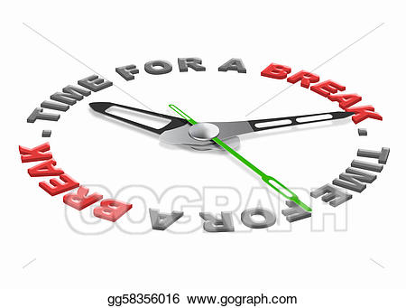 Stock illustration for a. Break clipart free time