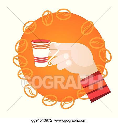 Eps illustration hand hold. Break clipart morning tea