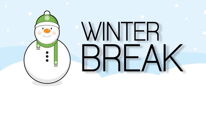 Early release and georgetown. Winter clipart break