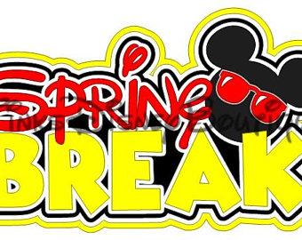 Etsy disney svg scrapbook. Break clipart spring