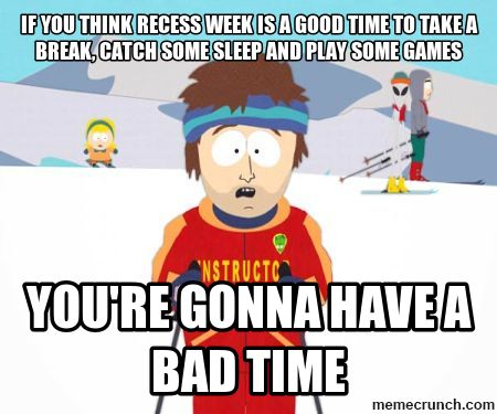 Break clipart think time. If you recess week