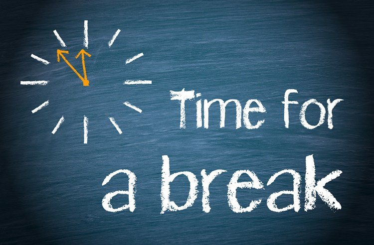 Need a from caregiving. Break clipart think time