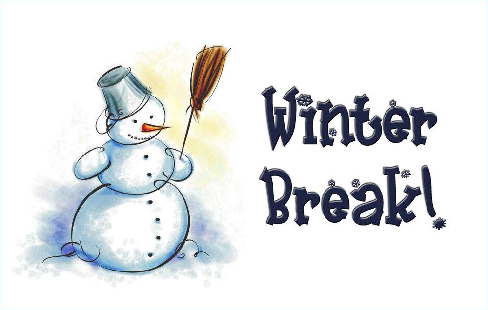 Winter clipart break. Mid no school octagon