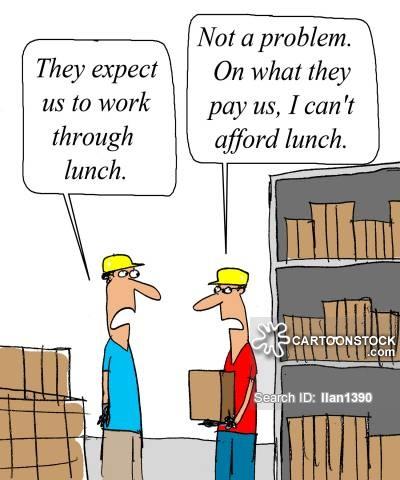 Break clipart work lunch. Working cartoons and comics