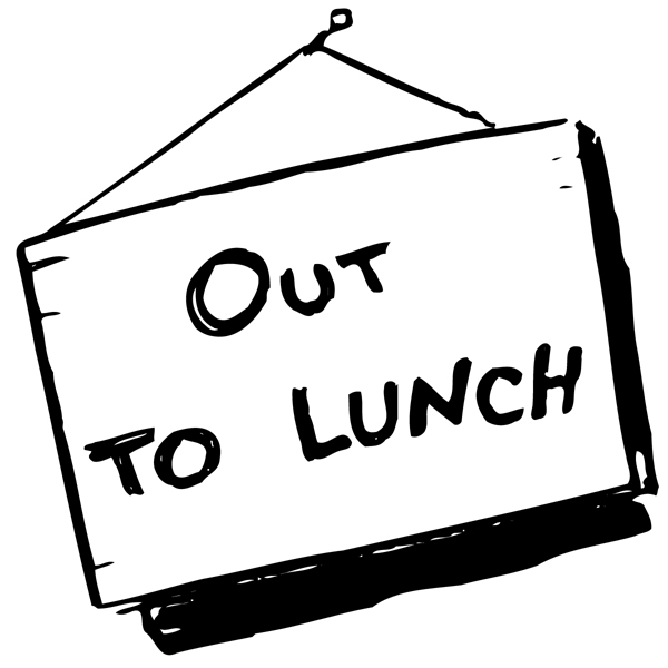 Out to signs printable. Break clipart work lunch
