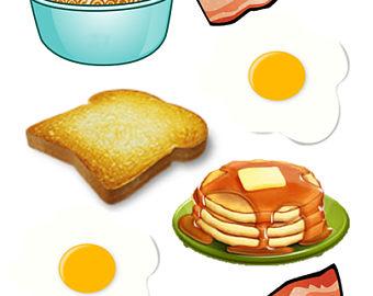 Breakfast clipart.  food pancakes waffles