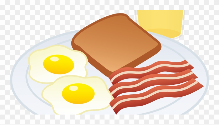 Breakfast clipart. Eat bacon and eggs