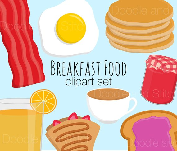Breakfast clipart bacon egg. Food clip art pictures