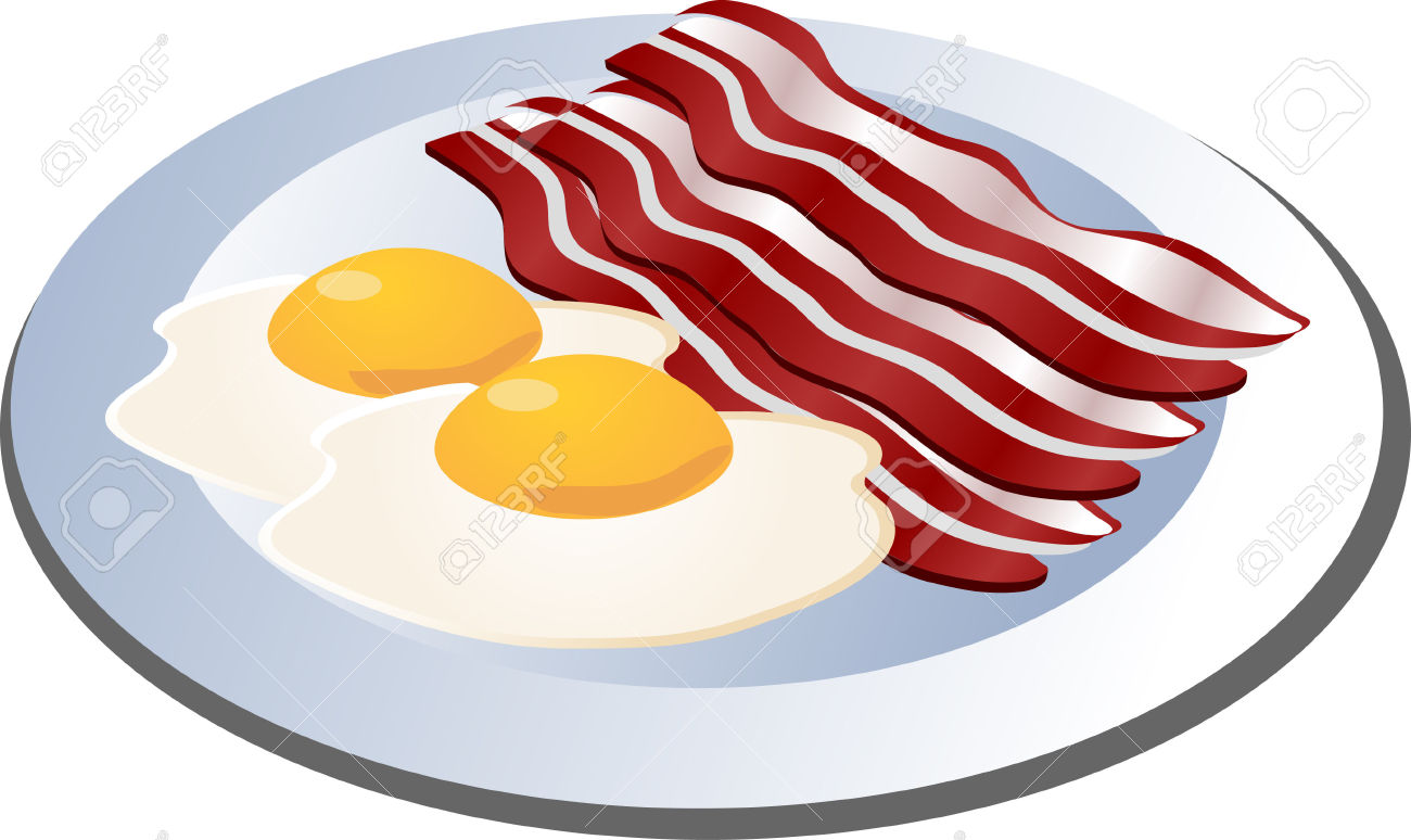 And eggs . Breakfast clipart bacon egg