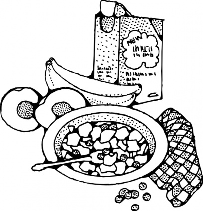 . Breakfast clipart black and white